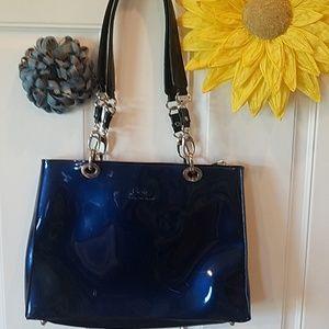 Beijo blue hard case purse